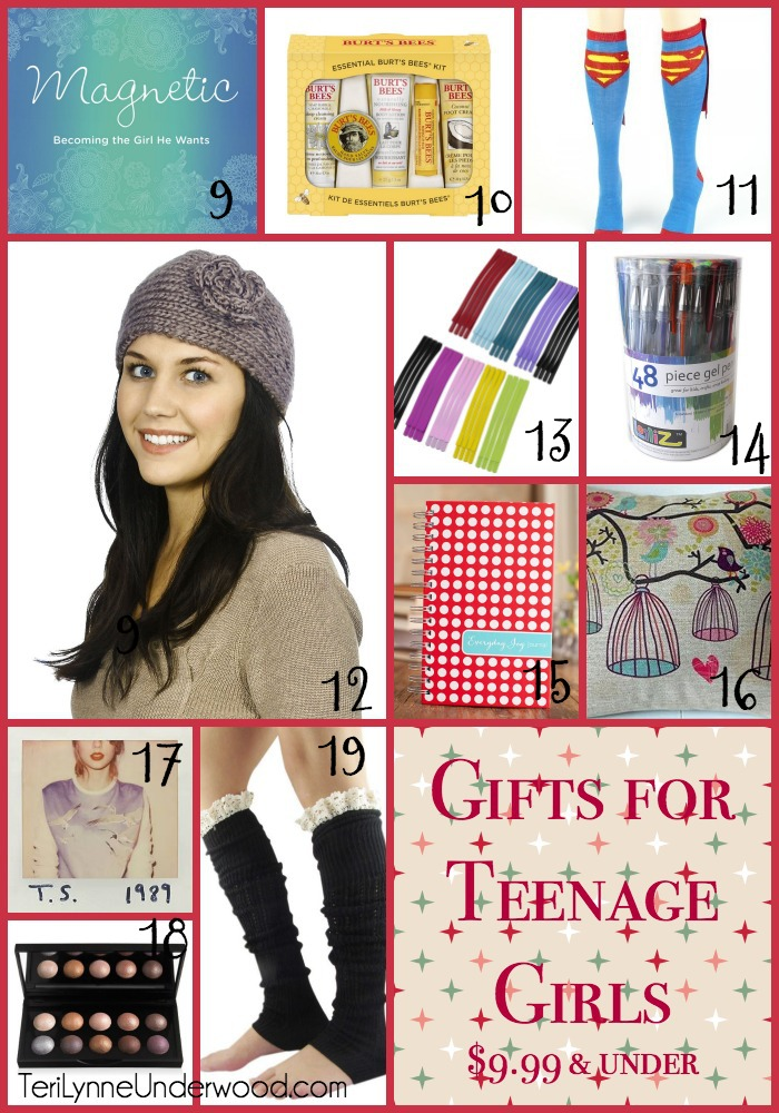 gift ideas for teenage girls under $9.99