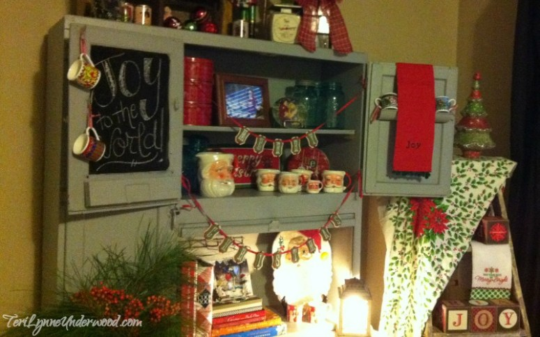 antique kitchen cabinet full of all kinds of old timey goodness