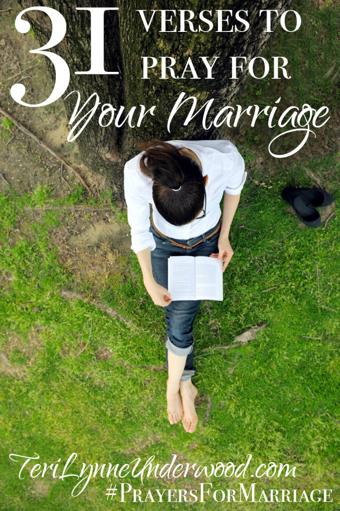 """Marriage is a gift! A beautiful, humbling exercise, my marriage is one of the ways God often uses to reveal the depths of His love for me. In fact, Paul wrote that marriage is a mystery that reveals Christ's relationship with the Church {Ephesians 5:32}. Marriage isn't easy. It's hard to lay down our own desires and dreams and wants and wishes for someone else. Marriage demands more from us than we could ever begin to imagine when we say, """"I do."""" Praying for our marriages is one of the best investments we can make!"""