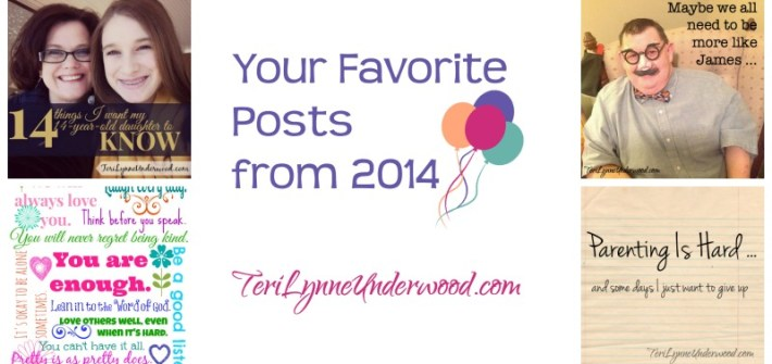 Favorite Posts from 2014 on TeriLynneUnderwood.com