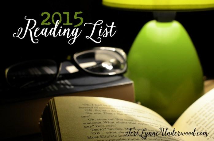 2015 Reading List    TeriLynneUnderwood.com