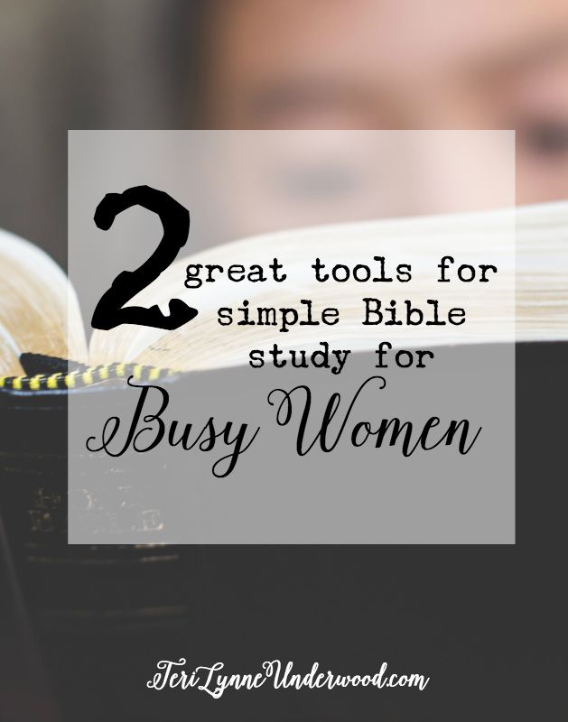 Need something simple to help you keep on track with your daily Bible study? Here are 2 great tools {especially for busy women!}.