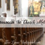 3 Reasons the Church Matters {accountability, biblical teaching, community}