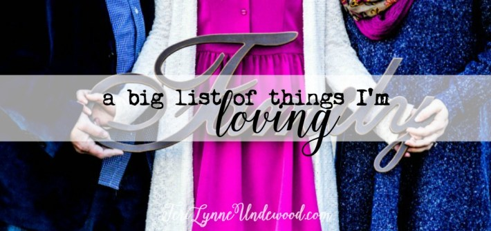 big list of things I'm loving ... books, products, blog posts, and more!