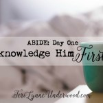 Acknowledge Him First ... Day 1 of ABIDE: 5 day plan to start 2016 intentionally