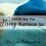 ABIDE day 2: Bring Your Burdens to HIM