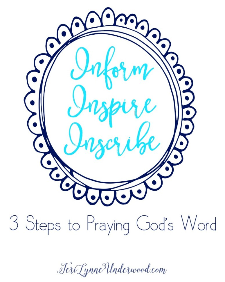 Inform, Inspire, Inscribe. A practical guide to praying God's Word