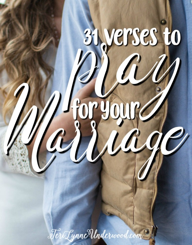 Spend 31 days praying God's Word for your marriage! Join Scott and Teri Lynne Underwood as they share #MarriagePrayers: 31 verses to pray for your marriage.