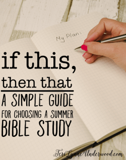 Simple Guide for Choosing a Summer Bible Study