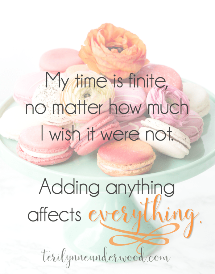 Recognizing the way adding anything affects everything in our lives is a vital part of Lopsided Living.
