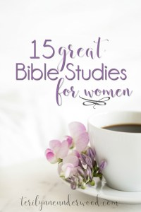15 great Bible studies for women from teachers like Denise J. Hughes, Beth Moore, Jen Wilkin, Lysa TerKeurst, and Lisa Harper.