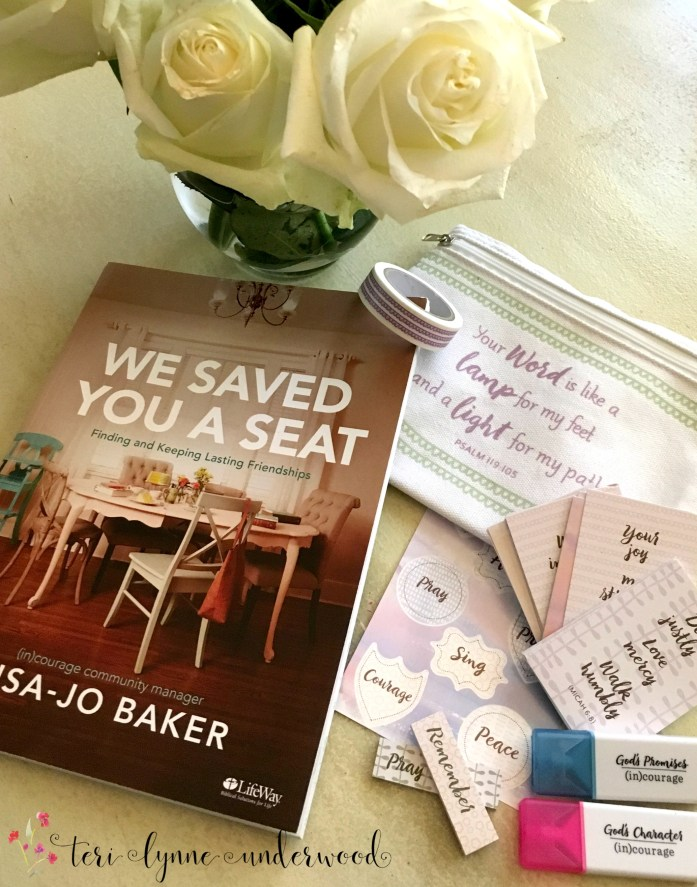 "Ever felt lonely or want to make sure others don't, ""We've Saved You a Seat"" by Lisa-Jo Baker is for you! New Bible study & study kit available."