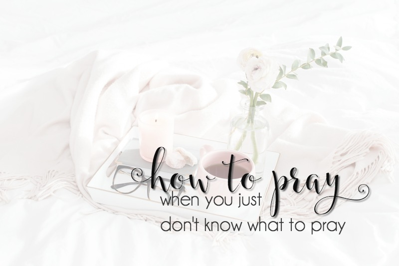 We all have times when we don't know what to pray. Praying Scripture is a way to move through those seasons.