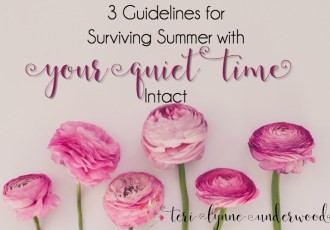 Surviving Summer with Your Quiet Time Intact