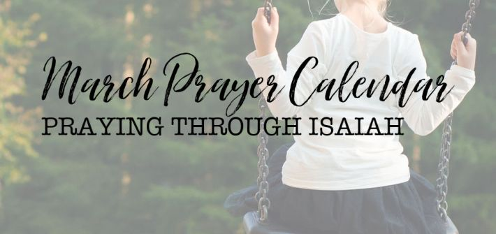Join thousands of moms praying Scripture every day for the girls they love! March prayer calendar now available! #prayingforgirls #thismomprays