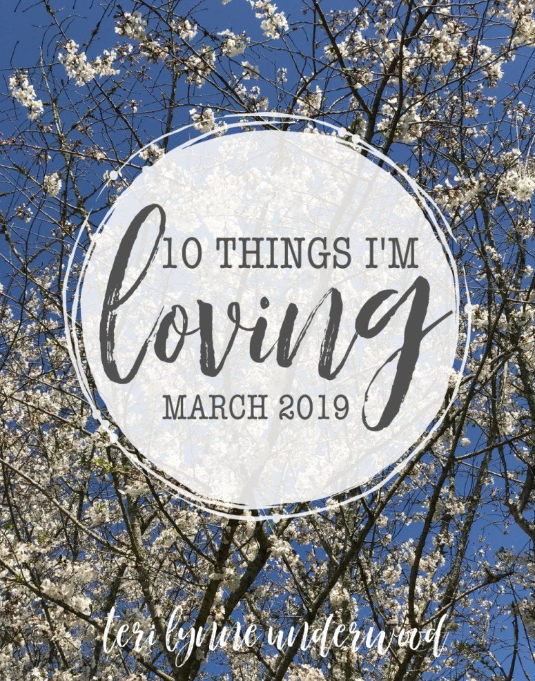 10 Things I'm Loving {March 2019} — from pens to checking things off the list, here are a few of the things that have made March awesome!