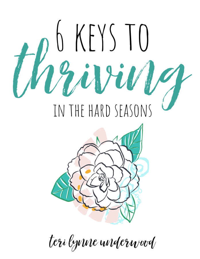 6 Keys to Thriving in the Hard Seasons (based on Psalm 42)  So when the hard days come, we can truly thrive as we trust His faithfulness and choose to give Him the praise He is due.
