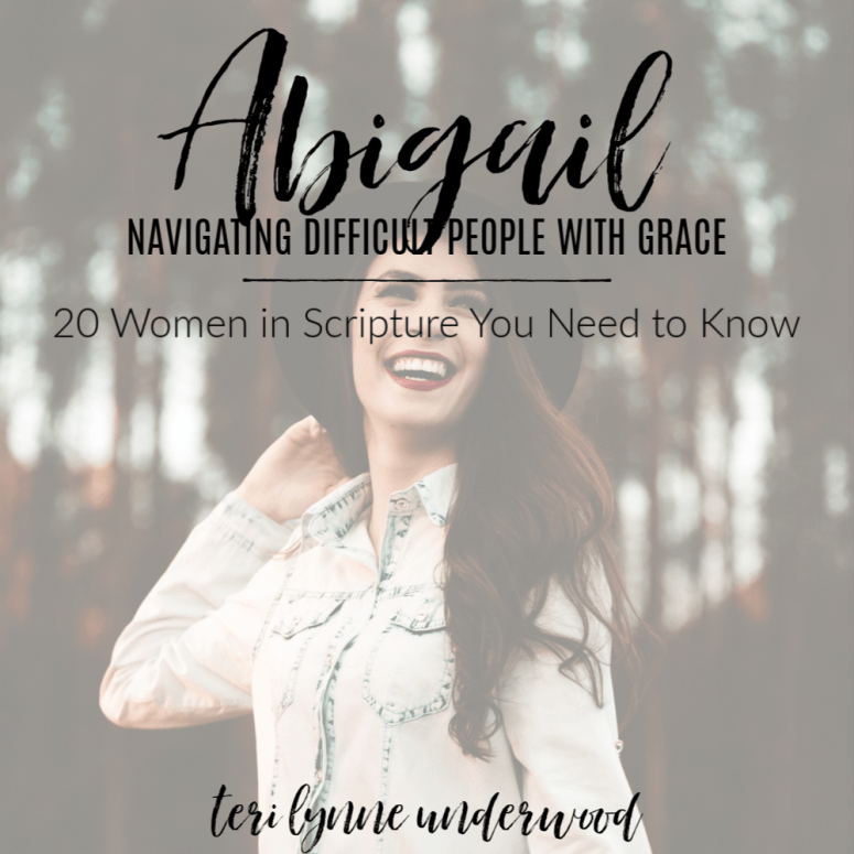 Abigail: Navigating Difficult People with Grace    20 Women in Scripture You Need to Know  How can we navigate difficult people in our lives? What can we do to mitigate conflict between others? Abigail offers us 3 lessons for these inevitable situations in life.