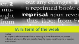IATE Term of the Week: reprisal
