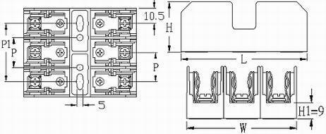 FB-M031SQ 10X38 600V 32A 1 Pole Midget Fuse Block