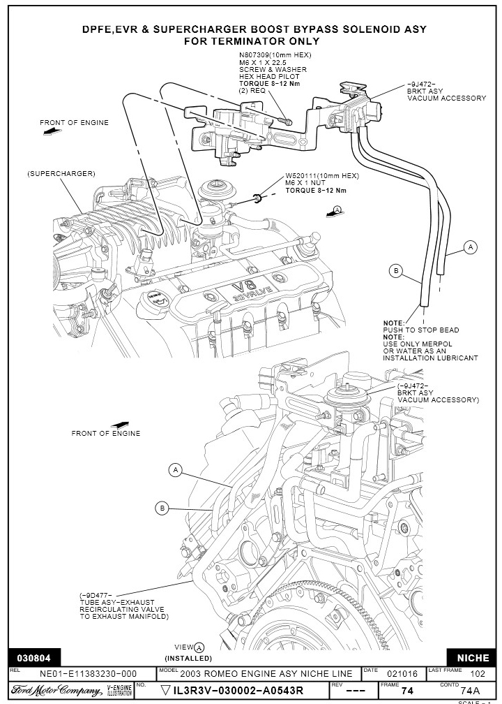 Vacuum Diagram For A2001 Ford Lightning 5 4l Supercharged