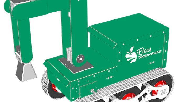 Culture bot de Eos Robotics, un robot pour désherber grâce aux micro-ondes