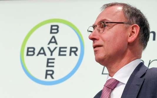 Le PDG de Bayer, Werner Baumann, à Leverkusen, en Rhénanie-du-Nord–Westphalie (ouest de l'Allemagne), en février.