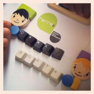 Letterine magnetiche da tastiere in disuso