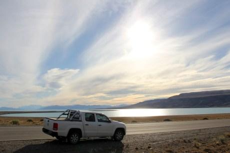 Na altura de El Calafate e El Chaltén, a rodovia 40 acompanha os Glaciares do Parque Nacional