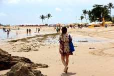 Caminhando pelas areais da segunda praia