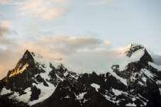 Montanhas nevadas em Torres del Paine
