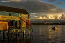 Restaurante sobre o lago Llanquihue