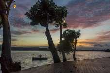 Lindo pôr do sol nas Isletas de Granada