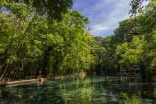 Nos refrescando no Ojo de Água. Imagem: Isla de Ometepe