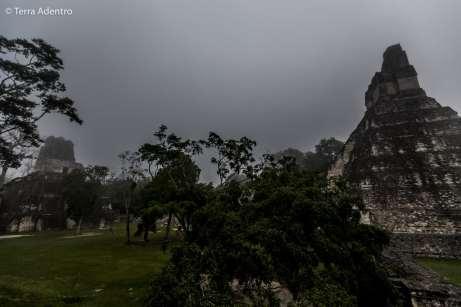 O primeiro contato que tivemos com as pirâmides de Tikal