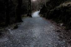 Trilha no parque Wicklow Mountains