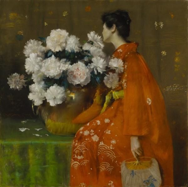By William Merritt Chase Peonies