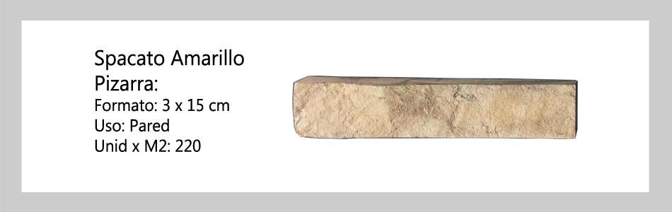 Spacato Amarillo Pizarra 3x15 informacion tecnica