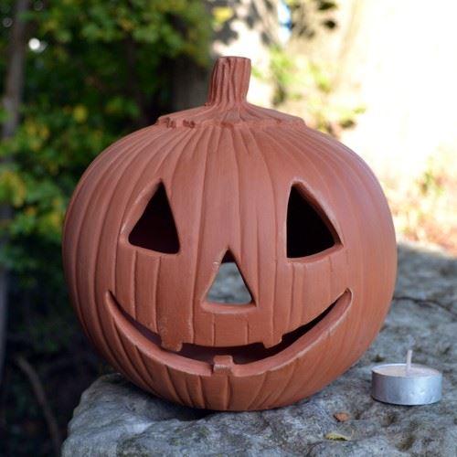 Halloween Pumpkin Lantern  Terracottaukcom  Handmade