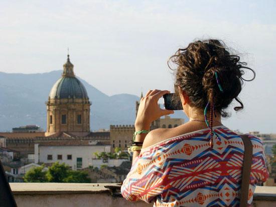 Vista dalla Torre di San Nicolò di Bari all'Albergheria - Palermo