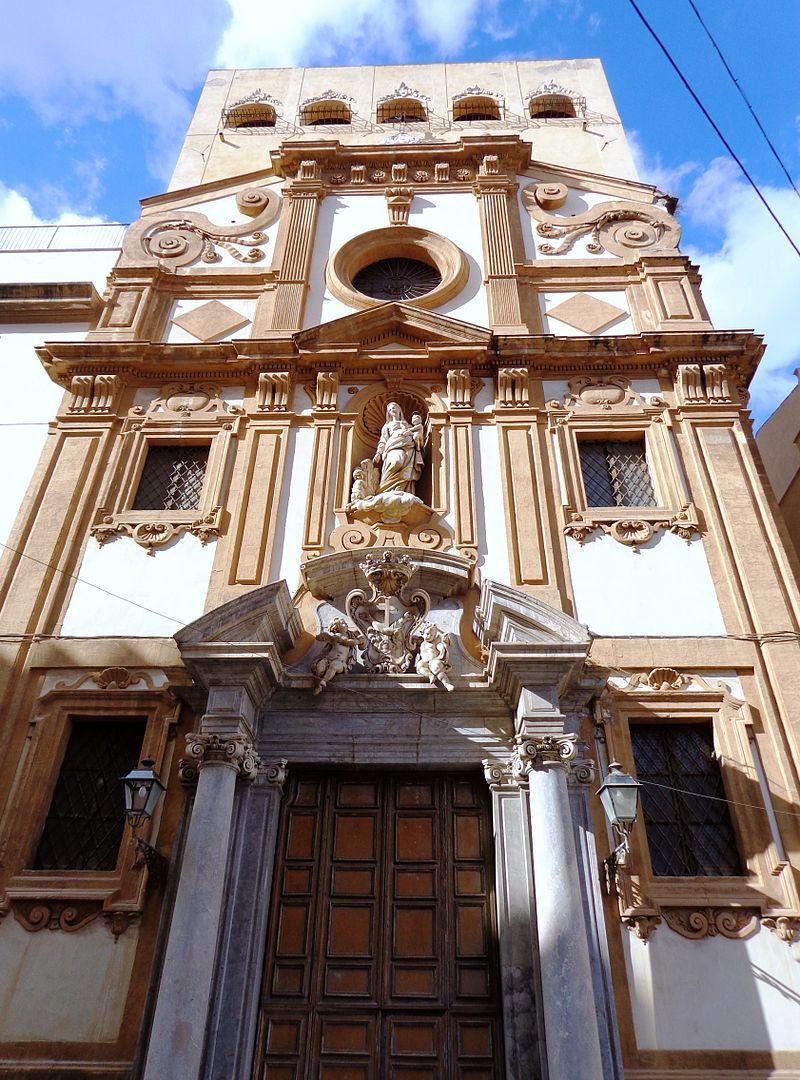 la seicentesca chiesa della Madonna di Monte Oliveto, badia nuova - palermo