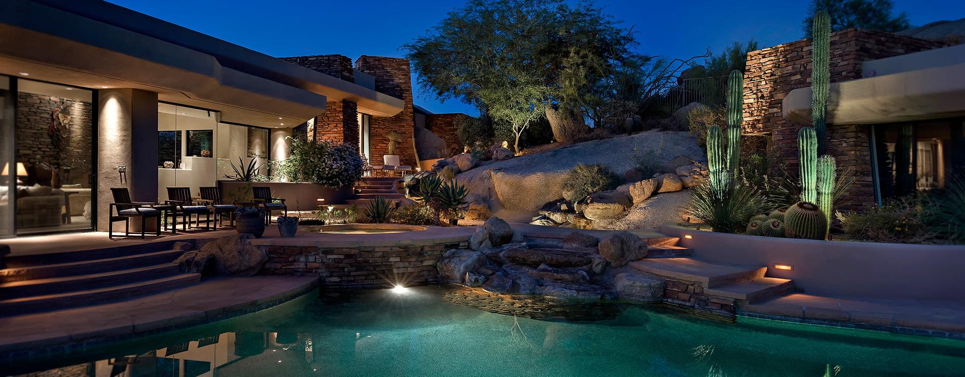 outdoor deck and landscape lighting