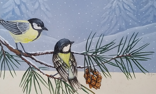 uccellini d'inverno