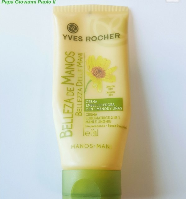 Yves rocher- Crema Sublimatrice 2 in 1 Mani e Unghie all'Arnica