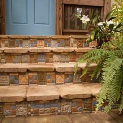 White Tile Backsplash Kitchen American Standard Faucet Terra Firma, Ltd. Handmade Arts And Crafts ...
