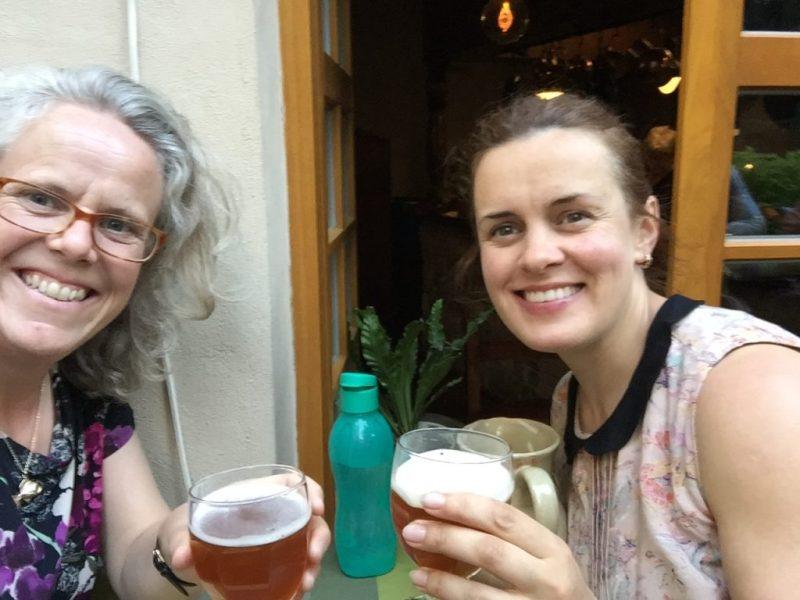 Robyn Butcher and Ramune Sanderson in Vilnius