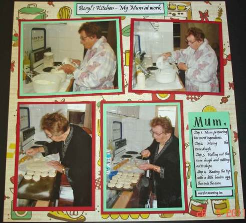 Beryl's Kitchen Scrapbooking and scrapbook design layouts