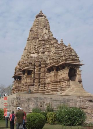 Khajuraho-Temples built between 9th and 10th centuries by Chandela dynasty