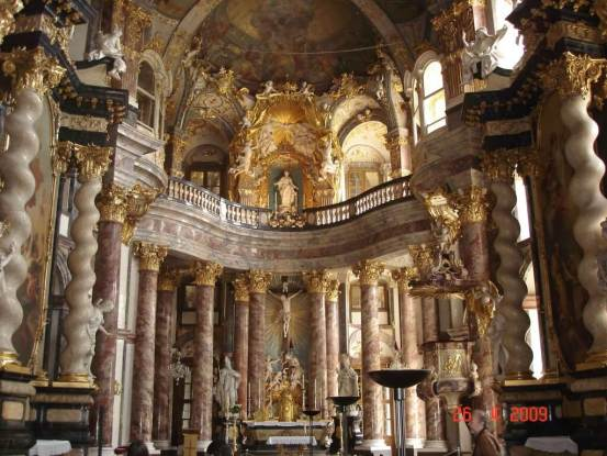 Chapel-interior--Residenz-Wurzburg Bavaria Germany Romantic Road tour