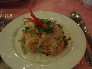 Lotus Blanc Practice Restaurant delicious food served by smiling eager young waiters